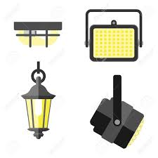 different styles of furniture. Lamps Styles Design Electricity Classic Light Furniture, Different Types Electric Equipment Vector Illustration. Of Furniture O