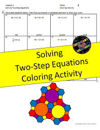 solving two step equations coloring page
