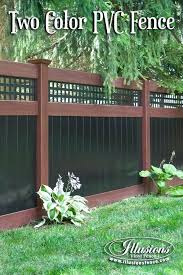 black vinyl picket fence. Vinyl Picket Fence Panels Lowes Cost Incredible Rosewood And Black Pvc Privacy
