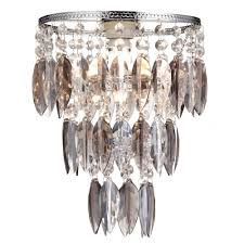 thlc contemporary silver chrome smoked acrylic bedroom ceiling pendant lamp shade lighting from the home lighting centre uk