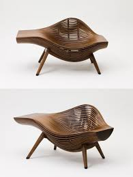 Furniture: Wooden Twisting Pod Modern Chairs - Iconic Chairs