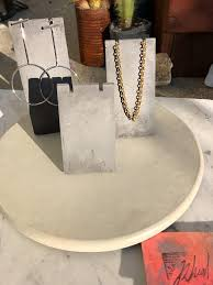 Trio Display Stands Best Minimal Trio Concrete Jewelry Display Stands Charcoal Rheal