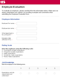 Effectively Evaluate Performance With Employee Evaluation Forms