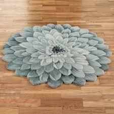 abby bloom round rug blue