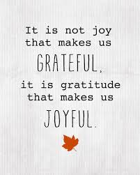 Gratitude give happiness