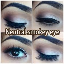 neutral smokey eye makeup tutorial you