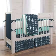 sailor baby bedding set navy anchors three piece crib bedding set nautical baby boy bedding set