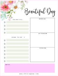 Daily Planner Printables Free Printable Daily Planner Beautiful Pages
