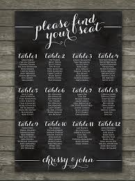 Rehearsal Dinner Seating Chart Ideas Simple Printable Wedding Seating Chart Sign By