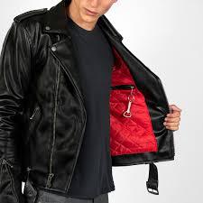 vegan logan black artificial leather jacket
