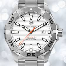 tag heuer watches the watch gallery® tag heuer aquaracer automatic stainless steel white dial mens watch