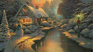 Thomas Kinkade Christmas Wallpapers ...
