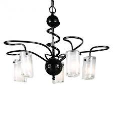 elstead lighting saturn 5 light black chandelier