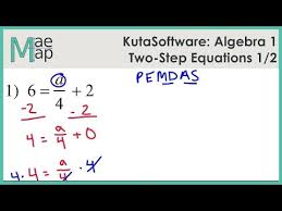 Punchline Algebra Book A Answer Key To Solving Two Step Equations Kutasoftware Algebra 1 Two Step Equations Part 1 Youtube