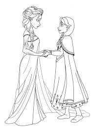 La Reine Des Neiges Anna Elsa Princesses Coloriage La Reine Des