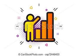 Graph Icon Column Chart Sign Vector