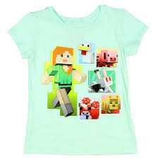 Amazon.com: Minecraft Alex \u0026 Friends Girls Shirt 4-16 Video Game ...