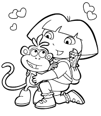Small Picture Cartoon coloring pages dora the explorer ColoringStar