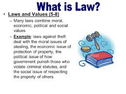 laws and values goals of legal system protecting basic  7 laws