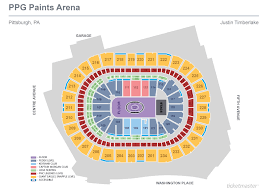Ppg Paints Arena Seating Chart Justin Timberlake Justin Timberlake Ppg Paints Arena