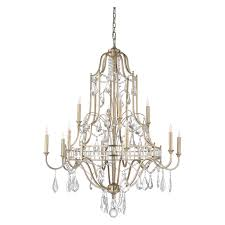 67176 wildwood lamps buckhead chandelier lg antique silver leaf clear finish