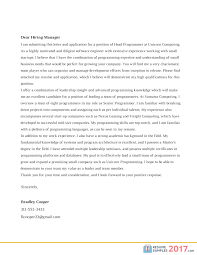 Good Cover Letter Examples 2017 41 Images 5 Examples Of Good