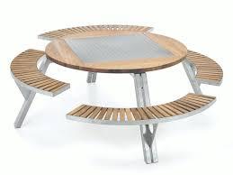 Table De Jardin Avec Banc L Gant Table De Jardin En Bois Avec Une Table Ronde Pour Jardin Avec Des Bancs En Bois