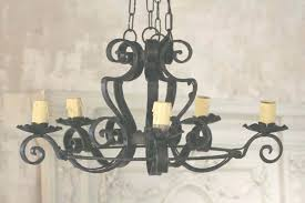 black wrought iron chandelier black wrought iron chandeliers 5 light black wrought with regard to wrought