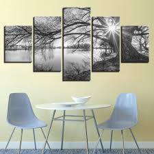 5 piece lakeside big trees canvas wall art paintings it make your day on 5 piece canvas wall art trees with 5 piece lakeside big trees canvas wall art paintings for sale it