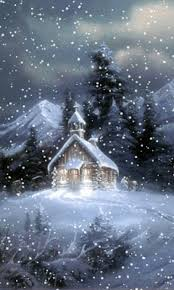 Animated Snow Scenes Church In The Snow Christmas Scenes Winter Christmas