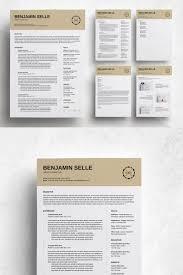 Benjamin Selle Professional Modern Resume Template 74450