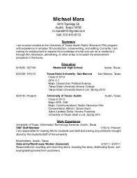Austin Resume Service A Good Resume Example
