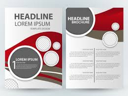 Brochure Graphic Design Background Brochure Design With Circles And Bright Background