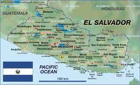 Karte von El Salvador (Land / Staat)