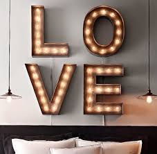 View in gallery Four marquee letters to spell the word love