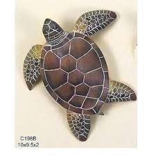 wooden sea turtle wall art