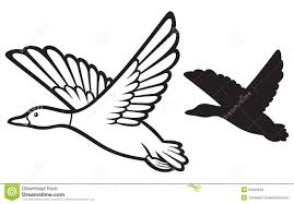 flying bird clipart black and white. Contemporary Clipart Flying Duck Clipart Black And White  Panda  Free  On Bird