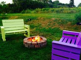 Patio From Pallets Patio Fire Pit Furniture Out Of 14 Repurposed Pallets O Pallet
