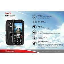 Điện Thoại Masstel Play 50 Loa khủng - Pin trâu 3000mah sản phẩm mới - bảo  hành 12 thangdf. chính hãng 380,000đ