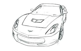 Lovely Sport Cars Coloring Pages And Corvette Coloring Pages