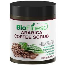 As a natural exfoliator, coffee helps to slough away dry, dead skin to reveal a real glow. Arabica Coffee Scrub With Dead Sea Salt Olive Oil Shea Butter