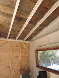 Plywood Plank Ceiling Relaxshackscom A Recycled Barn Wood Fence Plank Ceiling In A