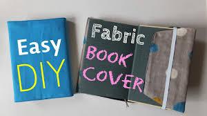 DIY how to make fabric book cover easy tutorial you
