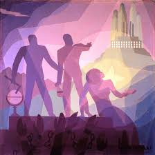 """Celebrate Black History Month and see Aaron Douglas's """"Aspiration"""" 