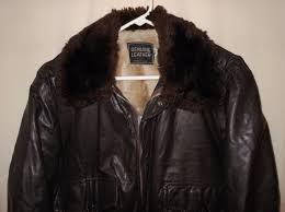 vtg er leather jacket
