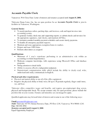 Appealing Accountant Clerk Resume With General Duties For Perform
