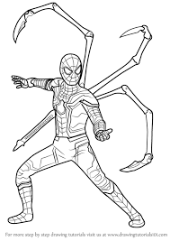 Learn How To Draw Iron Spider From Avengers Infinity War Avengers