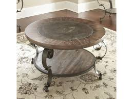 Steve Silver Mulberry Scroll Legged Round Cocktail Table With Bluestone  Insert   Great American Home Store   Cocktail/Coffee Tables