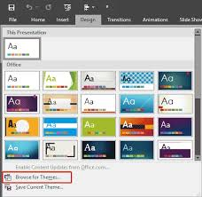 Excel Themes Applying Themes In Word Excel And Powerpoint 2016 For Windows