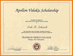 scholarship awards certificates template elegant 15 formal